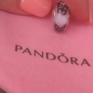 Pandora pink butterfly kisses murano